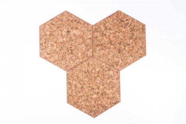 Tableau autocollant liège Hexagon-Decorative
