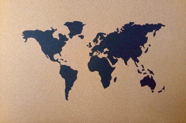 Carte du monde 915mmx610mmx5mm