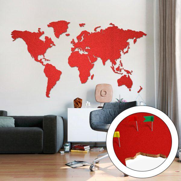 Carte de liège rouge grosse 200 x 105cm